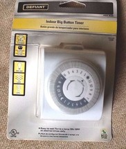 Defiant Indoor Big Button Timer New 15A 125VAC 60HZ 1/2HP One Day Shipping - $12.99