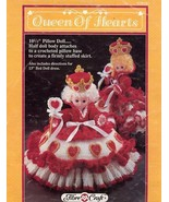 Queen of Hearts Pillow Bed Doll Dress Crochet PATTERN/INSTRUCTIONS FCM161 - $2.67