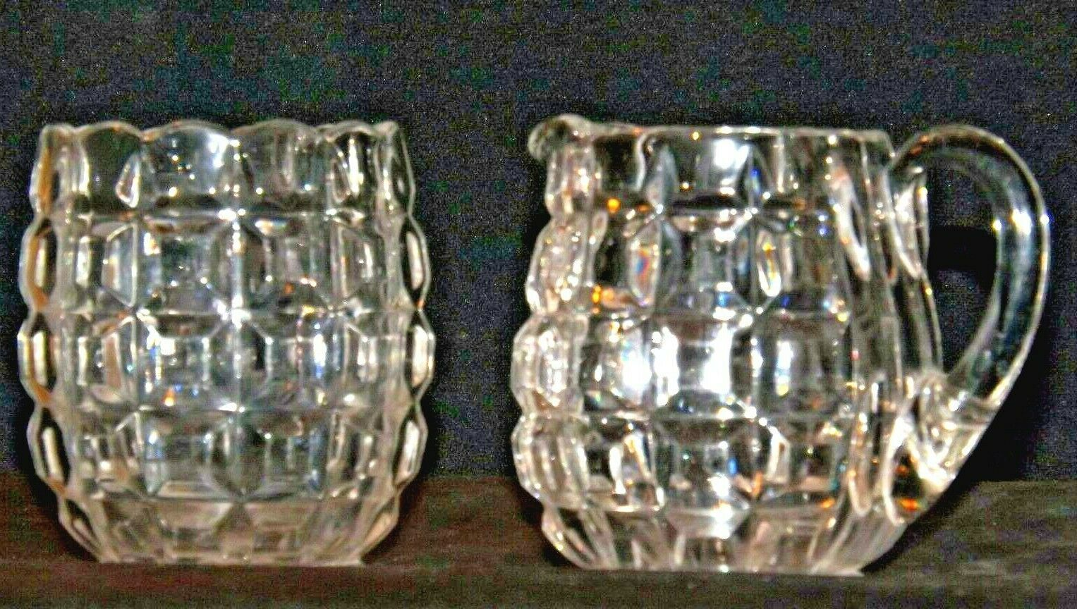 Waterford Cream and Sugar USA Pair AA19-LD11932 Vintage