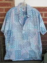 Hilo Hattie Men's L  Hawaiian Shirt Placket Front Reverse Print Monstera... - $16.82