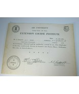 Vintage United States Air Force Extension Course Institute University 29... - $17.81