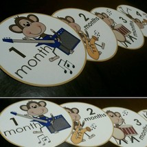 Monthly monkey baby stickers - $7.99