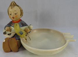 Vintage Hummel Western Germany Ashtray 33 Boy Playing Mandolin With Bird... - $20.00