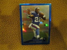 ANDRE BROWN RC 2009 TOPPS CHROME BLUE REFRACTOR ROOKIE CARD-GIANTS RB HOT - $19.79