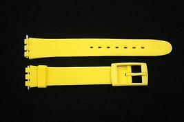12mm Ladies Yellow Replacement Watch Band Strap fits SWATCH watches - $9.88