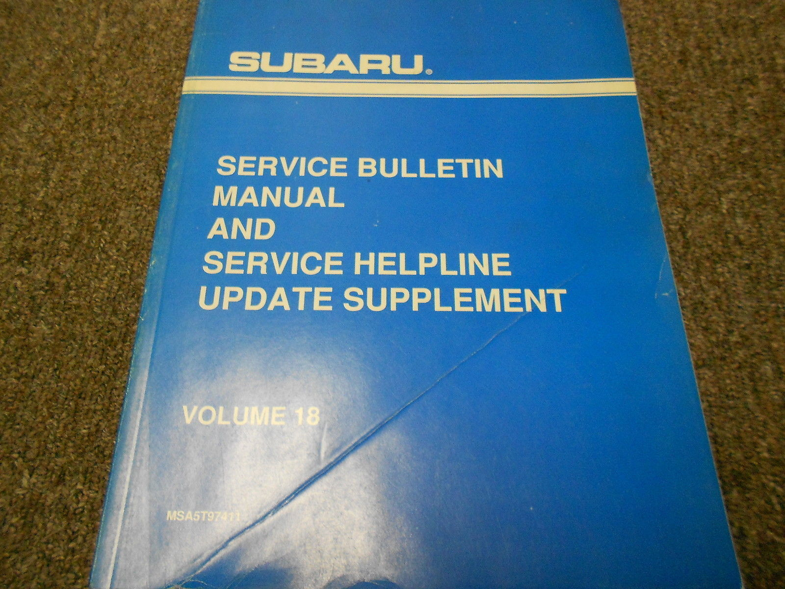 1996 Subaru Service Bulletin Manual & Service Help Line Update Supplement Vol 18