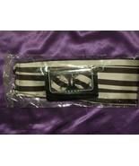 Black and Silver Stripe Pattern Cummerbund, Bow Tie & Handkerchief Set - $44.55