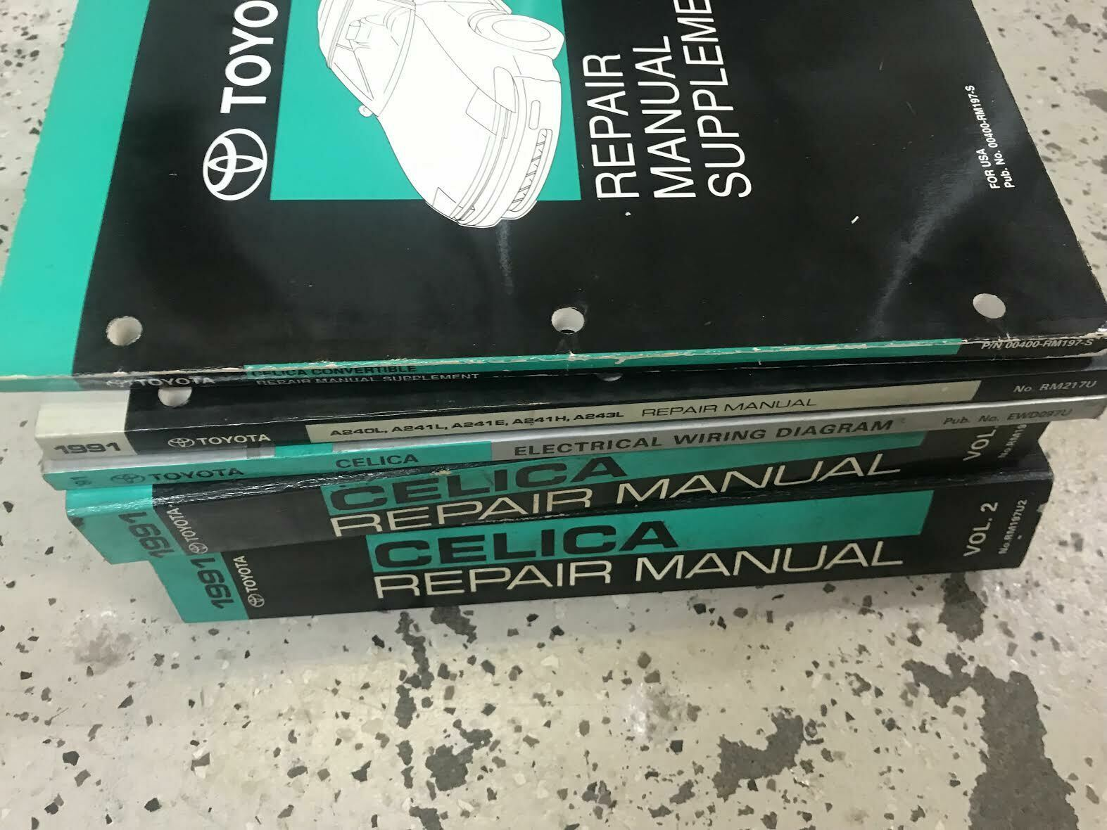 1991 Toyota Celica Service Repair Shop Manual Set OEM FACTORY W EWD Trans Bk Sup