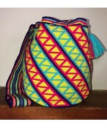 Authentic 100% Wayuu Mochila Colombian Bag Large Single Thread 1T Colo c... - $139.00