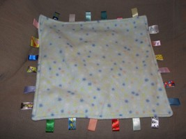 "Big Taggies Fleece Blue Yellow Green White Orange Small Polka Dot Stars 18"" - $39.59"