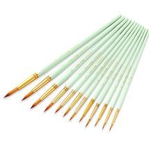 12 Pieces Nylon Hair Brush Watercolor Acrylic Paint Brush Art Painting - $14.43