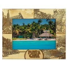 Punta Cana Laser Engraved Wood Picture Frame (3 x 5)  - $25.99