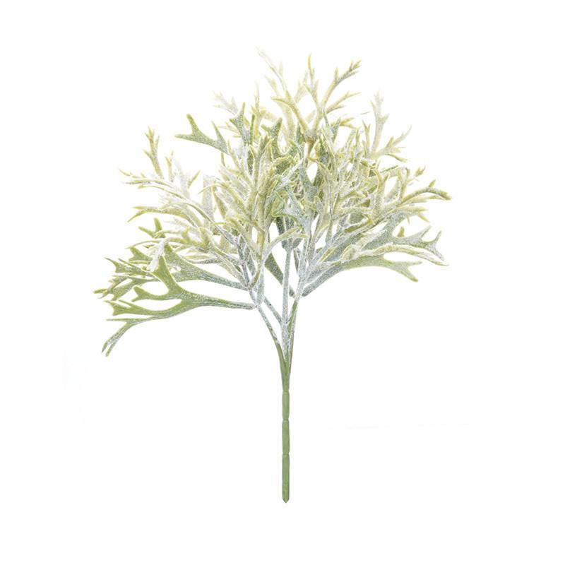 28cm Artificial Plant Flock Antlers Flower Decor 1pcs