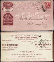All Over Ad Tuttle & Co Book Sellers Rutland, VT 6/24/1890 - Stuart Katz - $90.00