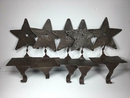 """5 Colonial Primitive Hand Made 7.5"""" Tin Star Metal Stocking Holders - $26.80"""
