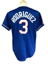 Majestic Men's MLB Texas Rangers #3 Alex Rodriguez Blue Jersey Large - $27.71