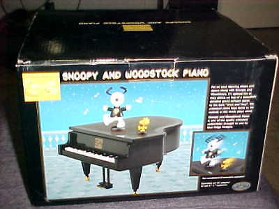 Dancing Snoopy and Woodstock Musical Grand Piano Mint With Box Never Use