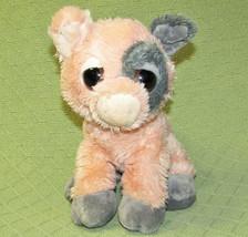 """Aurora Peepers Pig Stuffed Animal 9"""" Plush Pink Grey Big Eyed Piglet Bean Bag - $17.82"""