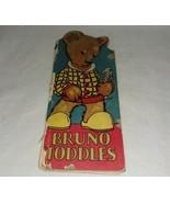 1929 Bruno Toddles Book Animal Series Bear USA McLoughlin Bros Hardcover  - $14.99