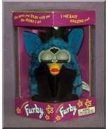 Furby - Spider - Blue with Black Stripes & Belly (1998) - $123.75