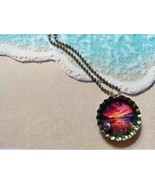 3D One-Of-A-Kind Beachy Bottle Cap Necklace (Sunset) - $6.00