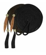 23' Heavy Nylon Yacht Rope Mecate Reins w/ Horsehair Tassel Brown or Black - $28.80
