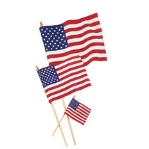 United States 12 x 18 Cloth Flag/Case of 12 - $53.74