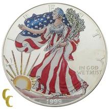 1999 Pintado Walking Liberty 1oz de Plata American Eagle con / Caja & - $39.60