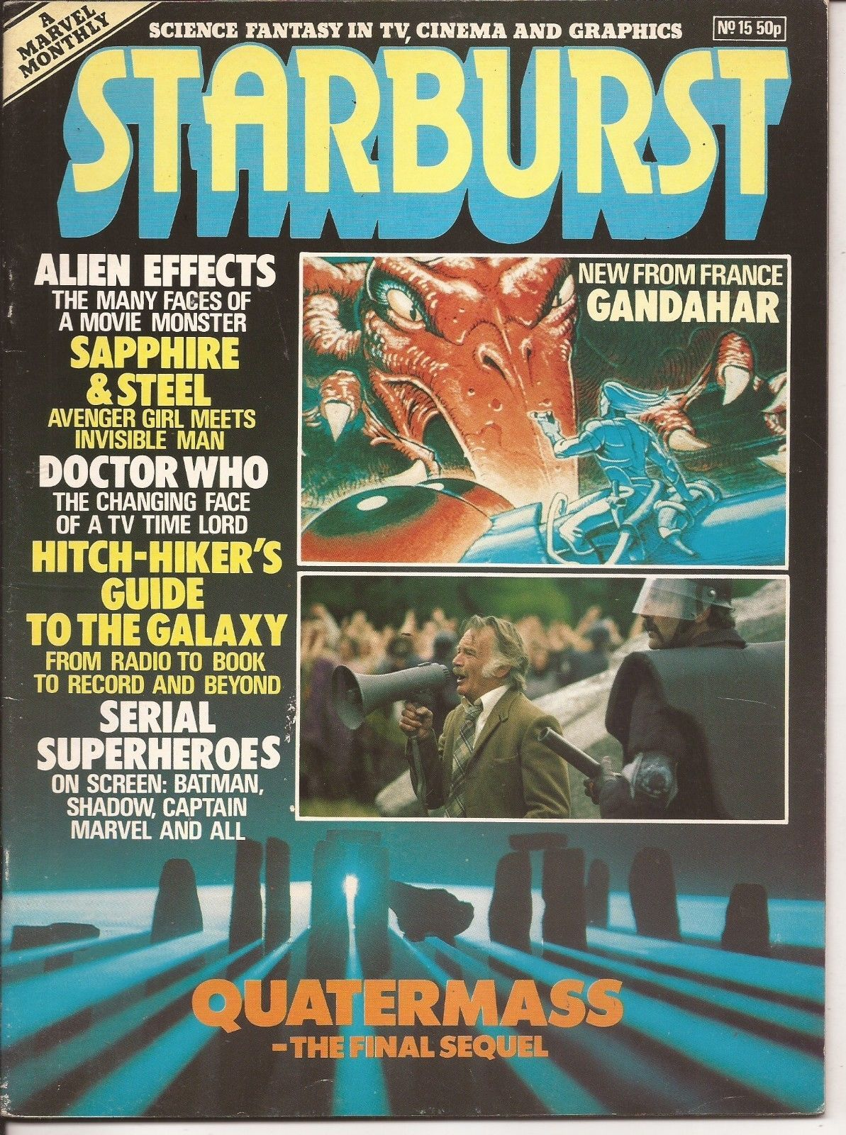 Marvel Starburst #15 Quatermass Doctor Who Gandahar Serial Superheroes Sci-Fi