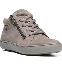 "Naturalizer ""Motley"" Womens 8.5 W Modern Grey Leather Lace Up High Top S... - $48.97"