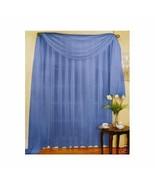 "SHEER VOILE 216"" WINDOW SCARF BLUE - $11.87"
