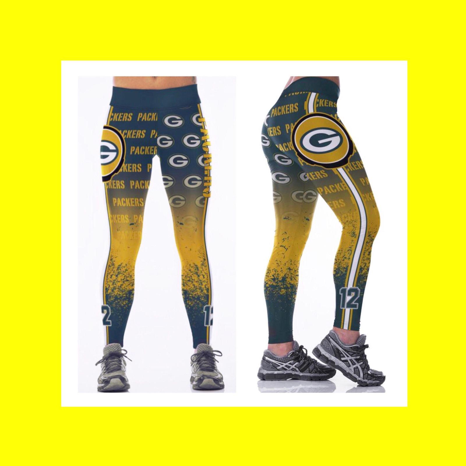 quality design c172e 084ca PACKERS Leggings - #12 Women Fan Gear - NFL and 13 similar items