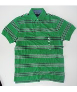 Tommy Hilfiger Mens Polo Striped Short Sleeve Shirt Green Size Small NWT - $38.79