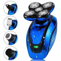 Telfun 5-in-1 Electric Shaver for Men, Wet&Dry Rechargeable Mens Rotary Shavers, image 9