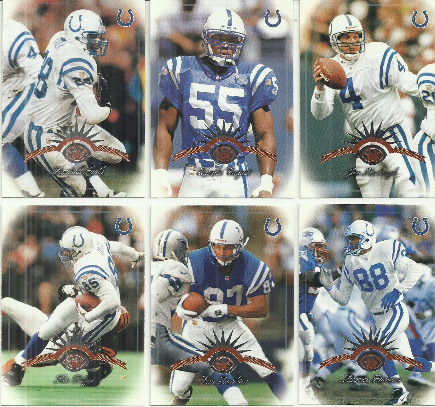 (6) 1997 Leaf (Indianapolis Colts Complete Team Set) SEE SCANS!