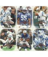 (6) 1997 Leaf (Indianapolis Colts Complete Team Set) SEE SCANS!  - $0.99
