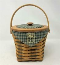 1998 Longaberger Special Crawford Barn Raising Basket  Protector, Liner, Lid - $39.39