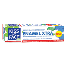 Kiss My Face Enamel Xtra Cool Mint Gel Toothpaste Fluoride 4.5 oz.  - $21.34