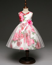 Birthday Dress Floral Print Flower Girl Dresses Short Formal Party Gowns... - $32.50