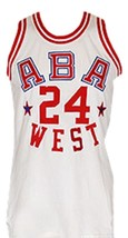 Ron Boone #24 Aba West All Star Basketball Jersey Sewn White Any Size image 3