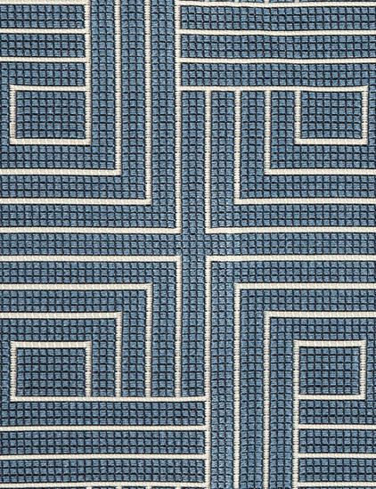 18 yds Pollack Upholstery Fabric Carolina Blue Knot Tonight 2388/03 HE-c18