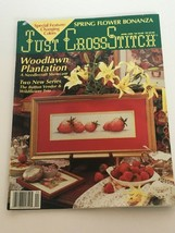 Just Cross Stitch Magazine Patterns Spring Flowers Cat Dog Houses April 1990 - $7.64