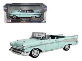 1957 Chevrolet Bel Air Convertible Green 1/18 Diecast Model Car by Motormax - $55.84