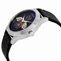 Gucci G-Timeless Black Dial with an Embroidered Honeybee Ladies Watch YA1264067 image 2