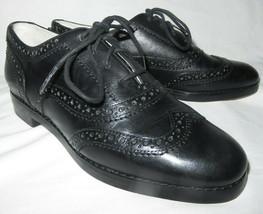 MICHAEL Kors Regent Oxfords Black Round Toe Lace Up Leather Size 6 NEW $175 - $61.38