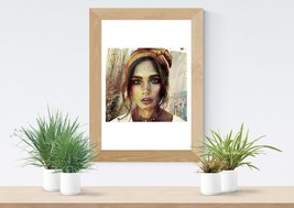 Printable Download - Young Woman, Painting Style Image, Wall Decor, Home... - $4.20