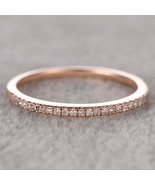 1.5mm Moissanite Wedding Band/Half Eternity Round Moissanite Wedding Ring - $309.00