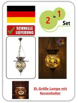 Superoferta %100 Handmade XL Mosaico Oriental Lámpara Colgante con Candelero - $23.95+