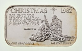 Natale 1982 Virgil Marshall 1 Oz. Argento Artistico Barretta Luke 2:11 VM1 - $54.44