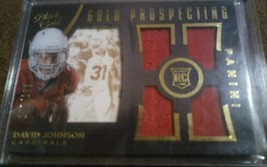 David Johnson SP /199 jersey RC 2015 Panini Black Gold Prospecting Quad #GP4-DJ - $16.24